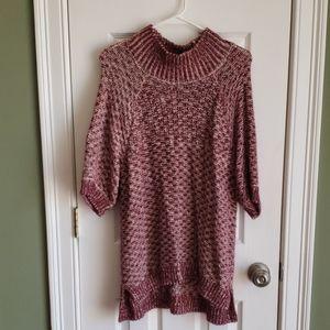 Victoria Secrets burgundy and white sweater